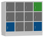 00150449 Szafa dla dzieci, 4 segmenty, 12 drzwi (wymiary: 1053x119x480 mm)