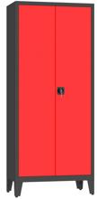 00150595 Szafa biurowa na nogach, 2 drzwi (wymiary: 2060x900x500 mm)