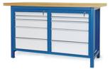 00853640 Stół warsztatowy, 10 szuflad (wymiary: 1500x900x740 mm)