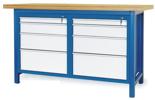 00853642 Stół warsztatowy, 8 szuflad (wymiary: 1500x900x740 mm)