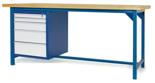 00853646 Stół warsztatowy, 5 szuflad (wymiary: 2100x900x740 mm)
