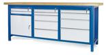 00853674 Stół warsztatowy, 1 drzwi, 11 szuflad (wymiary: 2100x900x740 mm)