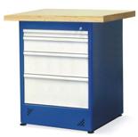 00853685 Stół warsztatowy, 4 szuflady (wymiary: 900x670x650 mm)