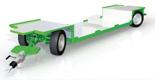 02938397 Wózek sadowniczy z czterema kołami skrętnymi i osiami sztywnymi WS/5S/4SH - z hamulcem najazdowym (ładowność: 2000 kg)