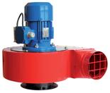08549396 Wentylator promieniowy stanowiskowy WPA-7-E-3-N 400V (obroty synchroniczne: 3000 1/min, moc: 1,1 kW, wydajność wentylatora: 3100 m3/h)