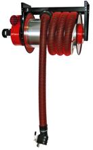 08549661 Odsysacz spalin, bęben odsysacza z napędem sprężynowym, zestawem wężowym, stoperem gumowym - bez ssawki, wentylatora i wyłącznika silnikowego ALAN-U/C-12 (długość węża: 12m, średnica: 150mm)