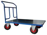 13340584 Wózek platformowy ręczny jednoburtowy 1BKB (koła: pneumatyczne 225 mm, nośność: 250 kg, wymiary: 1000x700 mm)