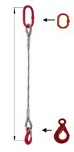 33948350 Zawiesie linowe jednocięgnowe miproSling LE 17,00 (długość liny: 1m, udźwig: 17 T, średnica liny: 40 mm, wymiary ogniwa: 275x150 mm)