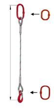 33948353 Zawiesie linowe jednocięgnowe miproSling T 25,00 (długość liny: 1m, udźwig: 25 T, średnica liny: 48 mm, wymiary ogniwa: 340x180 mm)