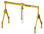 33959993 Wciągarka bramowa z wózkiem pchanym i wciągnikiem łańcuchowym miproCrane DELTA 200 (udźwig: 1500 kg, szerokość: 4257 mm, wysokość: 1727/3027 mm)