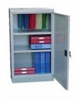 99551687 Szafa biurowa 1,0mm, 1 drzwi, 2 półki (wymiary: 1040x600x435 mm)