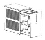 99551915 Szafka przybiurkowa, 2 półki, front metalowy (wymiary: 750x438x800 mm)