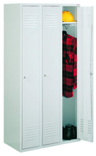 99552173 Szafka ubraniowa 0,8mm, zamek ryglujący drzwi w 3 punktach, 3 drzwi (wymiary: 1800x1200x490 mm)