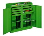 99552460 Szafka warsztatowa, 2 drzwiczki, 10 szuflad (wymiary: 1090x1000x435 mm)