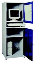 99552539 Szafka pod komputer przemysłowy, drzwi otwierane odzielnie, z wentylatorem i listwą zasilającą (wymiary: 1750x640x630 mm)