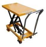 DOSTAWA GRATIS! 00546096 Wózek paletowy nożycowy (udźwig: 300 kg, wymiary platformy: 850x500 mm, wysokość podnoszenia min/max: 285-880 mm)