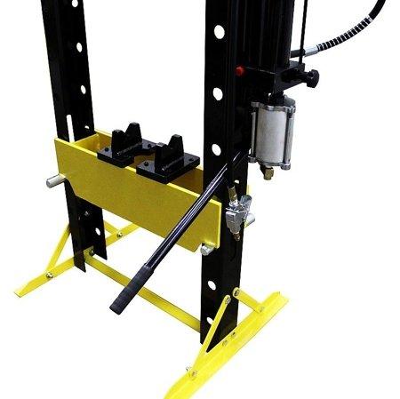 44358873 Prasa hydrauliczna, pneumatyka, ruchomy tłok, regulowany stół (siła nacisku: 20 T)