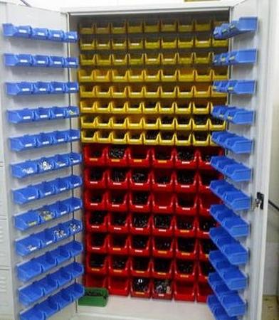 77157261 Szafa narzędziowa z pojemnikami, 210 pojemników (wymiary: 2000x1000x500 mm)