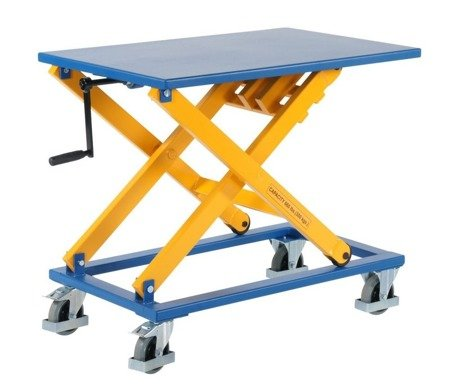99724840 Wózek platformowy nożycowy GermanTech (udźwig: 300 kg, wymiary platformy: 950x600 mm, wysokość podnoszenia min/max: 450-1050 mm)