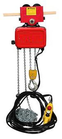 DOSTAWA GRATIS! 03060631 Żuraw przyścienny obrotowy + wciągnik łańcuchowy elektryczny na wózku ręcznym (udźwig: 250 kg, długość ramienia: 3000 mm)