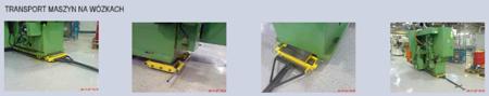 DOSTAWA GRATIS! 12235613 Wózek skrętny 8 rolkowy z prostokątną płytą nośną, rolki: 8x kompozyt (nośność: 12 T)
