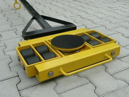 DOSTAWA GRATIS! 12235604 Wózek skrętny 8 rolkowy, rolki: 8x stal (nośność: 12 T)