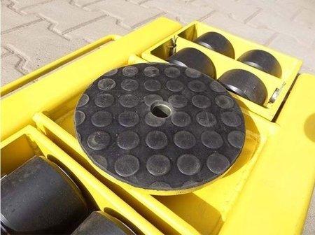 DOSTAWA GRATIS! 12267434 Wózek skrętny z otworem fi 21 w płycie nośnej, 8 rolkowy, rolki: 8x nylon (nośność: 6 T)