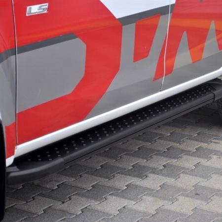 DOSTAWA GRATIS! 01665126 Stopnie boczne, czarne - Peugeot Expert 2007-2016 short (długość: 205 cm)