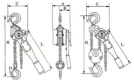 DOSTAWA GRATIS! 22043657 Wciągnik łańcuchowy, rukcug z dźwignią ZKS 6,0 1,5M (wysokość podnoszenia: 1,5m, udźwig: 6 T)