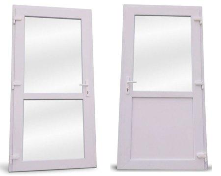 DOSTAWA GRATIS! 26269139 Drzwi zewnętrzne sklepowe (kolor: biały, strona: prawa, szerokość: 90 cm)