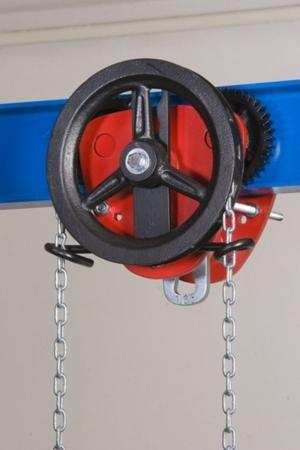 DOSTAWA GRATIS! 2209159 Wózek jedno-belkowy z napędem ręcznym Z420-A/10.0t/3m (wysokość podnoszenia: 3m, szerokość dwuteownika od: 125-185mm, udźwig: 10 T)