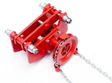 DOSTAWA GRATIS! 9588169 Wózek szynowy do wciągników przejezdnych (udźwig: 1,5 T, zakres toru jezdnego: 66-106 mm)