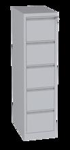00150460 Szafa kartotekowa na teczki A4 poziome, 1 rząd, 5 szuflad (wymiary: 1570x415x630 mm)
