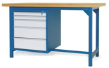 00853631 Stół warsztatowy, 5 szuflad (wymiary: 1500x900x740 mm)