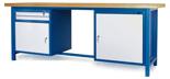 00853649 Stół warsztatowy, 2 drzwi, 2 szuflady (wymiary: 2100x900x740 mm)