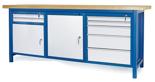 00853672 Stół warsztatowy, 2 drzwi, 7 szuflad (wymiary: 2100x900x740 mm)