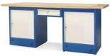 00853701 Stół warsztatowy, 2 drzwi, 1 szuflada (wymiary: 2100x900x740 mm)