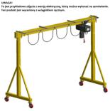 33960408 Wciągarka bramowa skręcana miproCrane DELTA 300 z wózkiem pchanym i wciągnikiem łańcuchowym ręcznym (udźwig: 1000 kg, rozpiętość: 2000 mm, wysokość podnoszenia: 2200 mm)