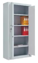 99551737 Szafa aktowa wzmocniona o podwyższonej odporności ogniowej, 2 drzwi , 4 półki (wymiary: 1950x1260x550 mm)