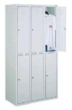 99552228 Szafka ze schowkami 0,6-0,8mm, 6 drzwi (wymiary: 1800x900x490 mm)