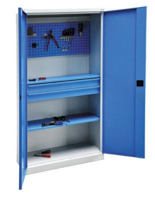 99552466 Szafa warsztatowa, 2 szuflady, 2 drzwi (wymiary: 2000x1020x435 mm)
