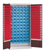 99552474 Szafa warsztatowa do pojemników narzędziowych, szafa dostarczana bez pojemników (wymiary: 1990x1000x435 mm)