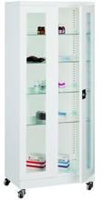 99552553 Szafa lekarska na kółkach, 4 półki, 2 drzwi (wymiary: 1890x1000x435 mm)