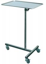 99552574 Stolik do instrumentowania na kółkach z blachy kwasoodpornej (wymiary: 911-1370x460x630 mm)