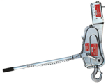 DOSTAWA GRATIS! 08126657 Wciągarka linowa, rukcug AS-17 A SECURIT z urządzeniem zabezpieczające wciągarkę (udźwig: 500 kg)