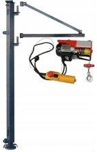 DOSTAWA GRATIS! 08172262 Wciągarka elektryczna linowa budowlana + Wysoki maszt + Ramie robocze (udźwig: 100/200 kg)
