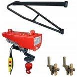 DOSTAWA GRATIS! 08172265 Wciągarka elektryczna linowa budowlana + Uchwyty + Ramie robocze + lina 30m + sterowanie ręczne 1,5m (udźwig: 200 kg)