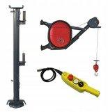 DOSTAWA GRATIS! 08172270 Wciągarka elektryczna linowa budowlana + Niski maszt (udźwig: 325 kg)