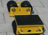 DOSTAWA GRATIS! 12235587 Wózek stały 2 rolkowy, rolki: 2x kompozyt (nośność: 3 T)