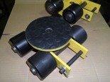 DOSTAWA GRATIS! 12267422 Wózek skrętny z otworem fi 21 w płycie nośnej, 4 rolkowy, rolki: 4x nylon (nośność: 4 T)